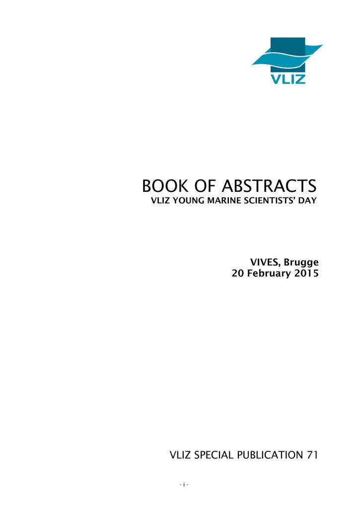 BOOK OF ABSTRACTS VLIZ SPECIAL PUBLICATION 71 VIVES, Brugge
