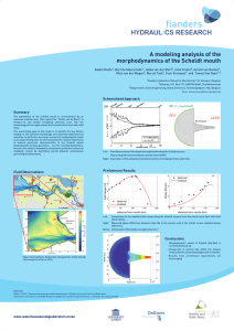 A modeling analysis of the morphodynamics of the Scheldt mouth