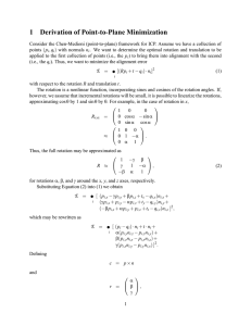1 Derivation of Point-to-Plane Minimization