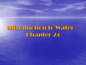 Introduction to Water – Chapter 24
