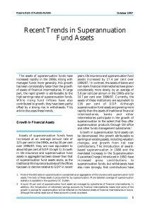 Recent Trends in Superannuation Fund Assets