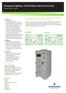 Emergency Lighting - ELSX Modular Static Inverter Unit Benefits