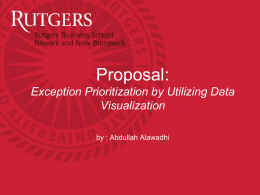 Proposal: Exception Prioritization by Utilizing Data Visualization