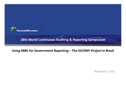 28th World Continuous Auditing & Reporting Symposium November 9, 2013