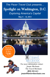 Spotlight on Washington, D.C. 100 presents… The Pacer Travel Club