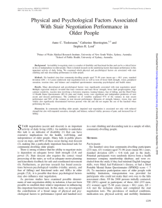 Physical and Psychological Factors Associated With Stair Negotiation Performance in Older People
