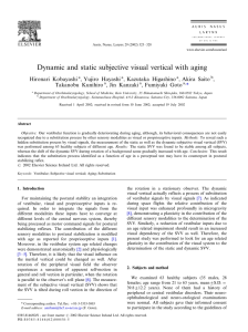 Dynamic and static subjective visual vertical with aging