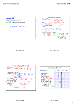 Algebra 2 Ch.5 Notes Page 17 A25­2Notes.notebook February 02, 2015