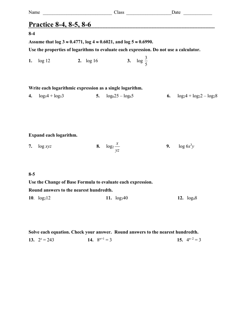 Power Properties s And Properties Of Transform Power besides Properties of Logarithms   Kuta likewise logarithm worksheets – jhltransports furthermore Logarithms   Product Rule  solutions  ex les  videos  worksheets also Kuta Infinite Algebra 2 Properties Of Logarithms Fresh furthermore Properties Of Logarithms Worksheet Answers Intro to Logarithm in addition Alge 2 Properties Of Logarithms Worksheet Answers The best likewise 16 Awesome Properties Of Logarithms Worksheet Answers additionally Practice 8 4  8 5  8 6 additionally Properties Of Logarithms Worksheet   Winonarasheed also Properties Of Logarithms Worksheet Answers Math Print Practice additionally Logarithms Worksheet Properties Of Logarithms Worksheet Properties together with Logarithms Worksheet   Homedressage in addition Log Properties Worksheet Alge 2 Logarithm Properties Worksheet additionally  also . on properties of logarithms worksheet answers