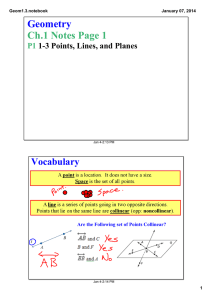 Geometry Ch.1 Notes Page 1 Vocabulary P1