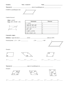 Geometry  Notes – Lesson 6.2 Name _________________________________