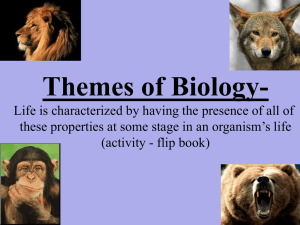Themes of Biology-