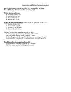 Conversion and Motion Practice Worksheet