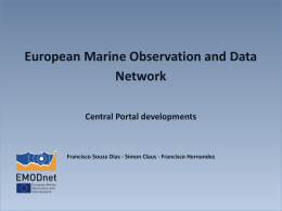 European Marine Observation and Data Network Central Portal developments