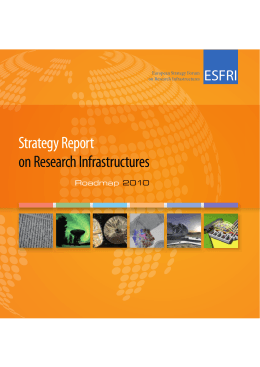 Strategy Report on Research Infrastructures ESFRI Roadmap