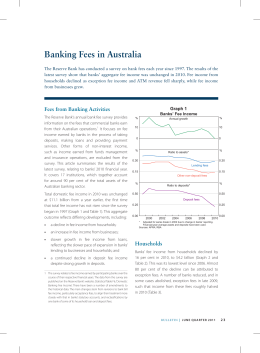 Banking Fees in Australia