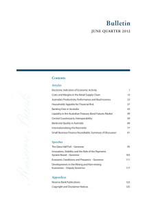Bulletin june quarter 2012 Contents articles
