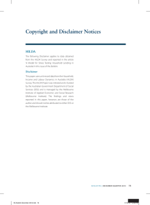 copyright and disclaimer Notices HILda