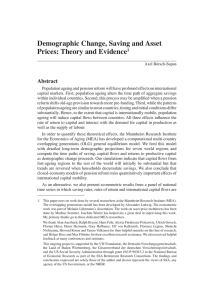 Demographic Change, Saving and Asset Prices: Theory and Evidence Abstract