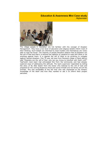 Education & Awareness Mini Case study Afghanistan