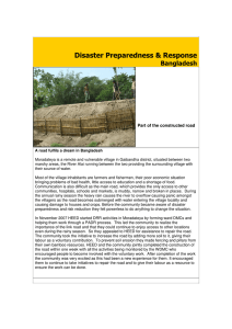 Disaster Preparedness & Response Bangladesh Part of the constructed road