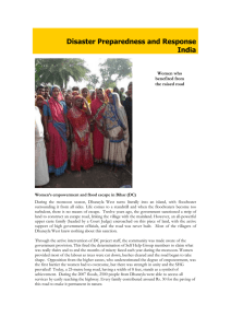Disaster Preparedness and Response India Women who benefited from