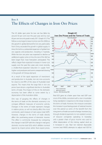 The Effects of Changes in Iron Ore Prices Box A Graph A1