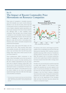 The Impact of Recent Commodity Price Movements on Resource Companies Box D