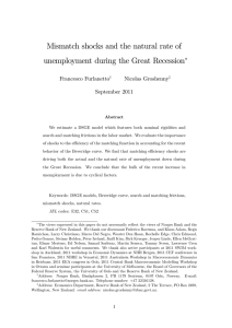 Mismatch shocks and the natural rate of Francesco Furlanetto Nicolas Groshenny