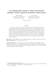 AN ESTIMATED SMALL OPEN ECONOMY MODEL WITH LABOUR MARKET FRICTIONS