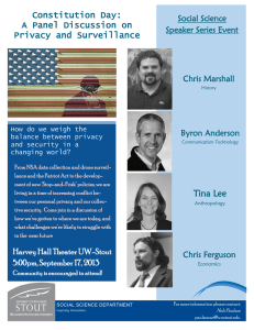 Constitution Day: A Panel Discussion on Privacy and Surveillance Social Science