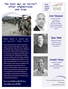 Jose Vasquez The Post War on Terror? After Afghanistan and Iraq