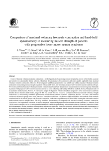 Comparison of maximal voluntary isometric contraction and hand-held