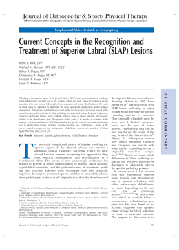 Current Concepts in the Recognition and