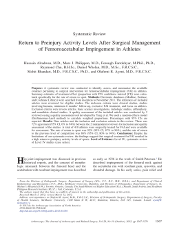 Return to Preinjury Activity Levels After Surgical Management