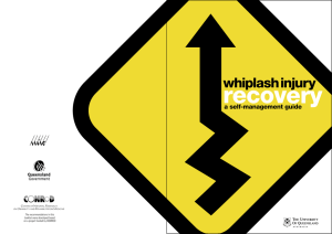 recovery whiplash injury a self-management guide The recommendations in this