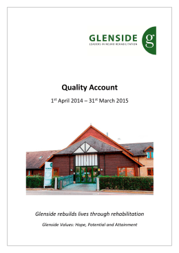 Quality Account  1  April 2014 – 31  March 2015
