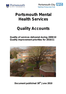 Portsmouth Mental Health Services Quality Accounts