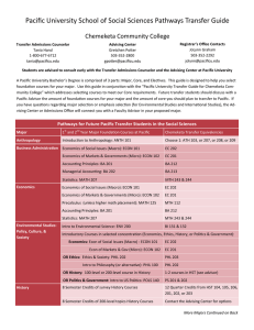 Pacific University School of Social Sciences Pathways Transfer Guide  Chemeketa Community College