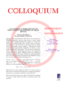 DEPARTMENT of MATHEMATICS AN OPTIMAL UPPER BOUND ON