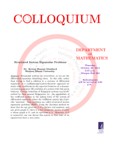 DEPARTMENT of MATHEMATICS Structured Inverse Eigenvalue Problems