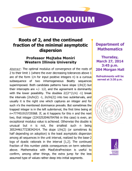 COLLOQUIUM Roots of 2, and the continued fraction of the minimal asymptotic dispersion
