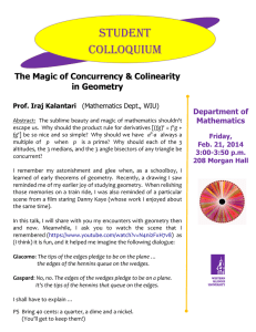 Student Colloquium The Magic of Concurrency & Colinearity in Geometry