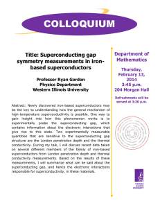 COLLOQUIUM  Title: Superconducting gap symmetry measurements in iron-