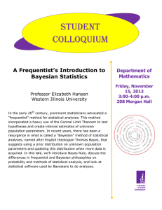 Student Colloquium  A Frequentist's Introduction to