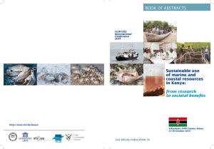 BOOK OF ABSTRACTS from research to societal benefits Sustainable use
