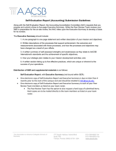 Self-Evaluation Report (Accounting) Submission Guidelines