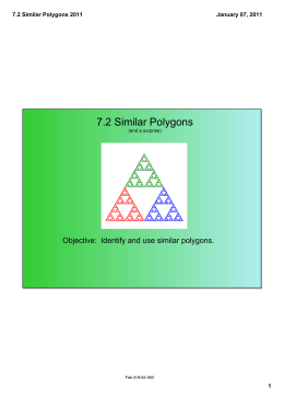 7 2 Similar Polygons