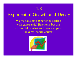 4.8 Exponential Growth and Decay