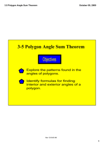 Objectives 3­5 Polygon Angle Sum Theorem